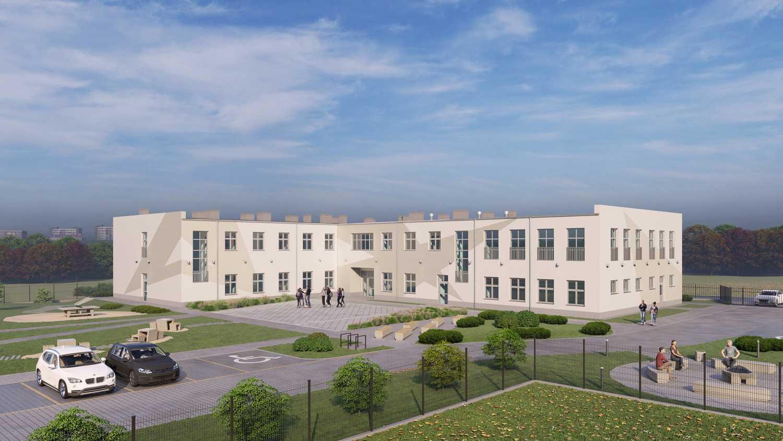 Wizualizacja projektu budynku OHP dla pracowni projektowej Aranż-Bud